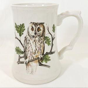 ❤️3/$25❤️ Vintage Owl Stein Mug